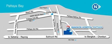 bangkok-hospital-pattaya-map